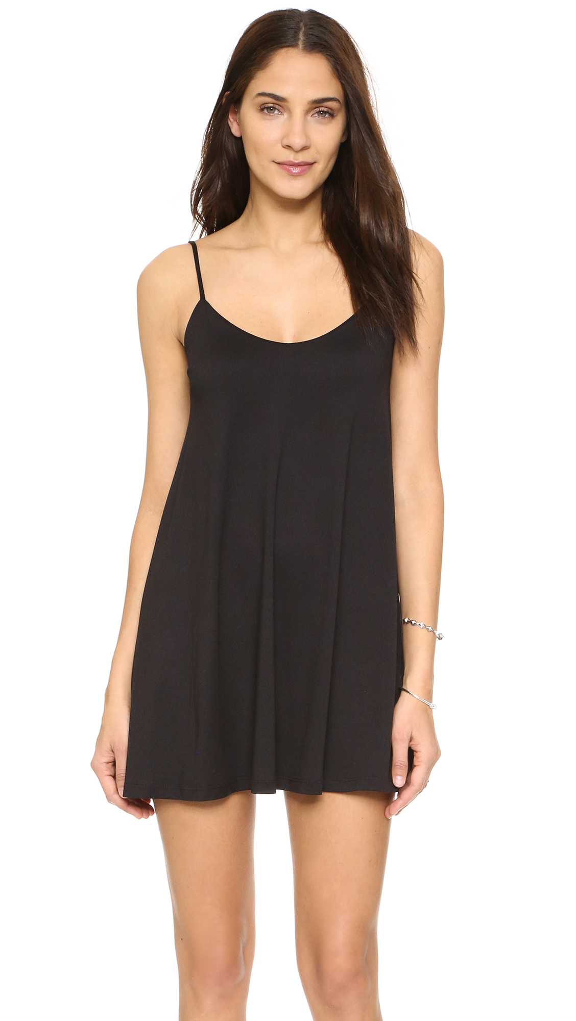 Susana Monaco Very V Drape Dress - Black