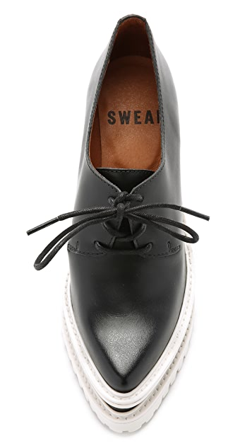 SWEAR Anita 3 Wedge Oxfords