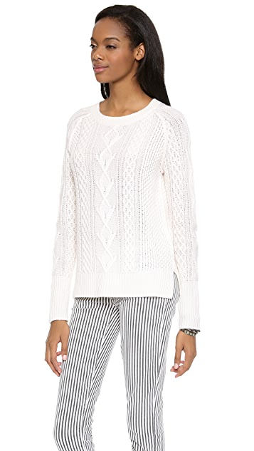 360 SWEATER Tarryn Cable Knit Sweater