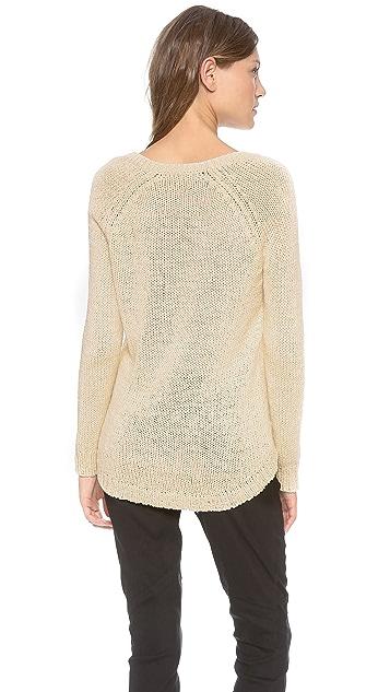 360 SWEATER Stacia 3/4 Sleeve V-Neck Sweater