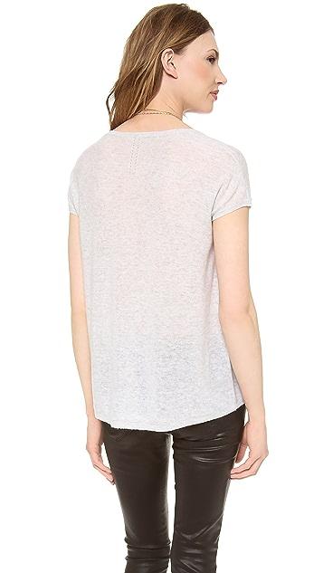 360 SWEATER Sari Cashmere Short Sleeve Sweater