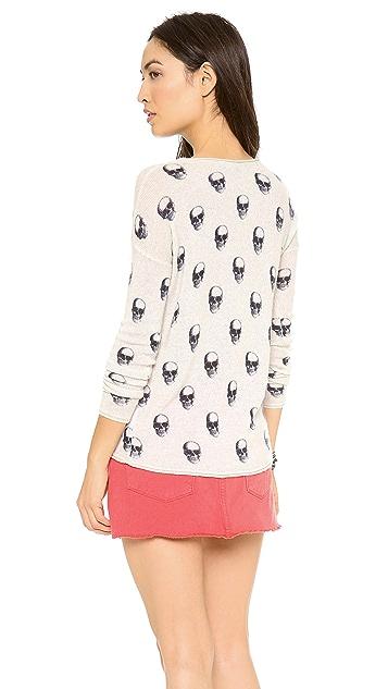 360 SWEATER Jackie Dee Skull Cashmere Sweater