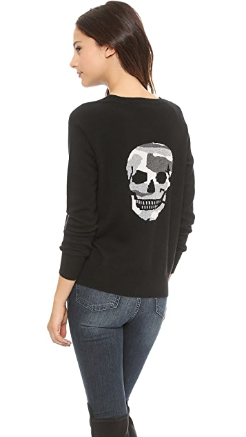 360 SWEATER Camo Skull Cashmere Sweater