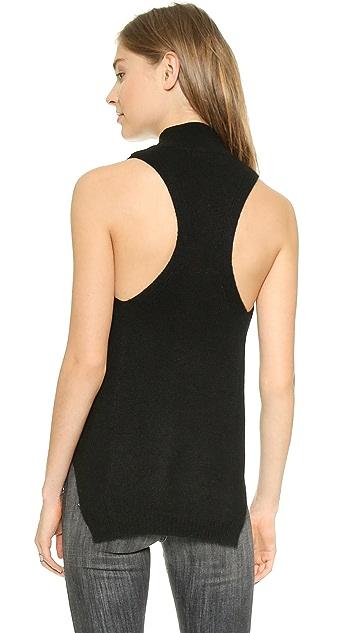 360 SWEATER Logan Sleeveless Cashmere Sweater