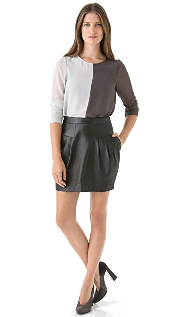 Sandra Weil Celia Leather Skirt