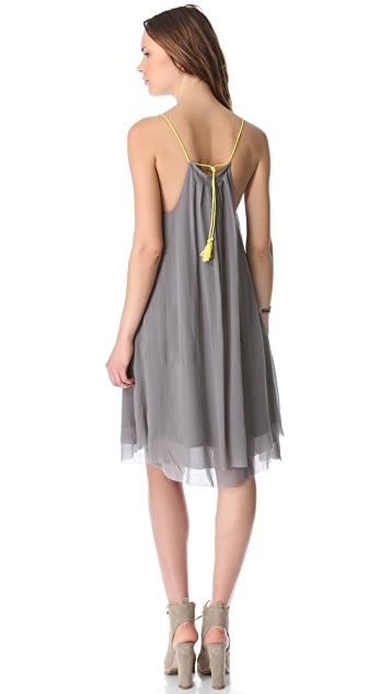 Swildens Inlay Sleeveless Dress