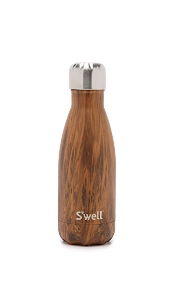 S'well Wood Grain Small Stainless Steel Bottle