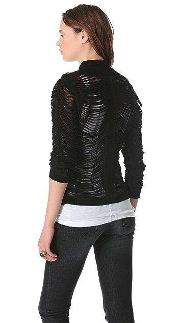 SW3 Bespoke Black Suede Slash Jacket