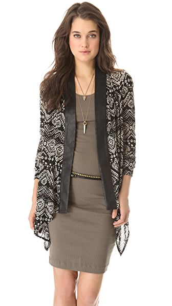 SW3 Bespoke Valentina Cardigan with Faux Leather