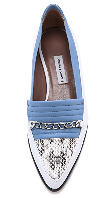 Tabitha Simmons for Creatures of the Wind Leather & Snakeskin Loafers