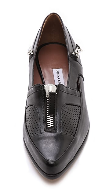 Tabitha Simmons for Creatures of the Wind Zipper Leather Flats