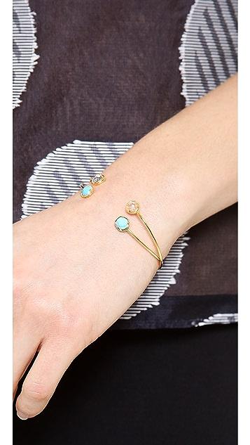 Tai Duel Crystal Bangle Bracelet