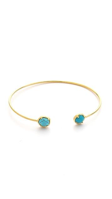 Tai Duel Stone Bangle Bracelet