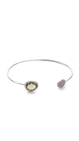 Tai Pave Open Stone Bracelet