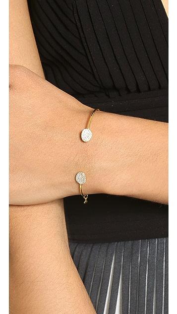 Tai Dual Pave Thin Bracelet