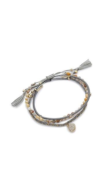 Tai Pave Disc Bracelet Set