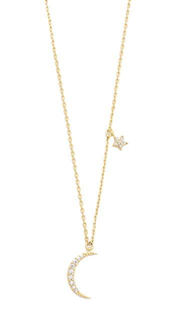 Tai Moon and Star Necklace