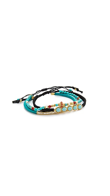 Tai Beaded Trio Bracelet