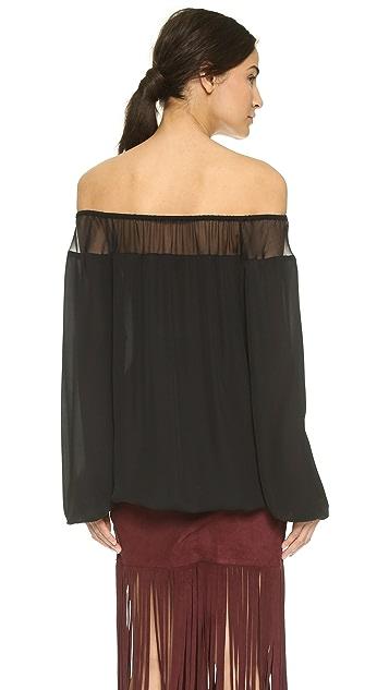 Tamara Mellon Off Shoulder Blouse