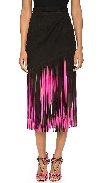 Tamara Mellon Замшевая юбка с бахромой