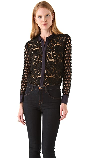 tba (to be adored) Jena Chunky Lace Blouse