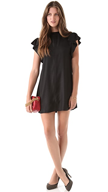 tba (to be adored) Lois Flutter Sleeve Dress