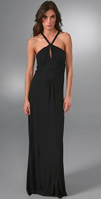 MISA Halter Long Dress