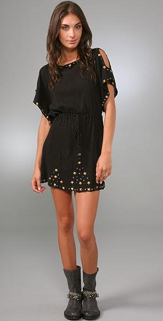 MISA Gauze Studded Dress