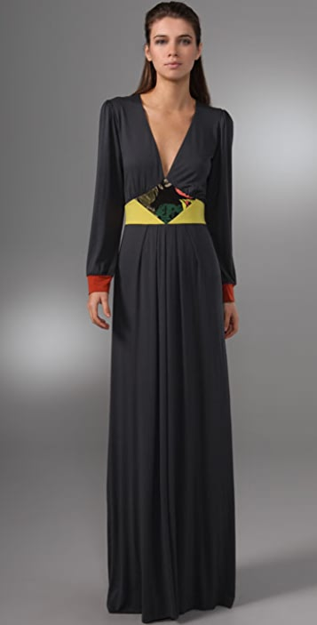 MISA Long Sleeve Maxi Dress