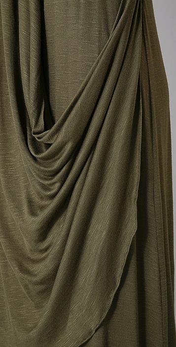 MISA Draped Long Dress