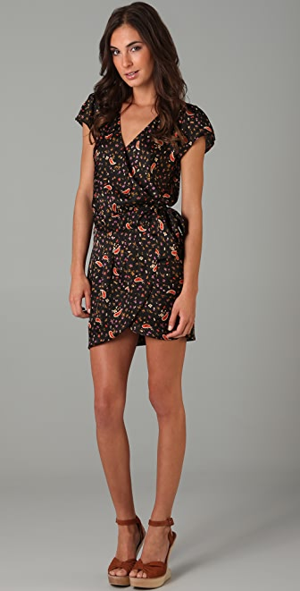MISA Print Cap Sleeve Dress