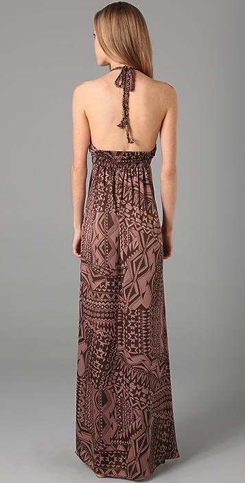 MISA Printed Long Dress