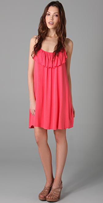 MISA Ruffled Mini Dress