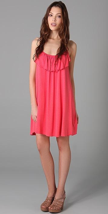 MISA Ruffled Mini Dress