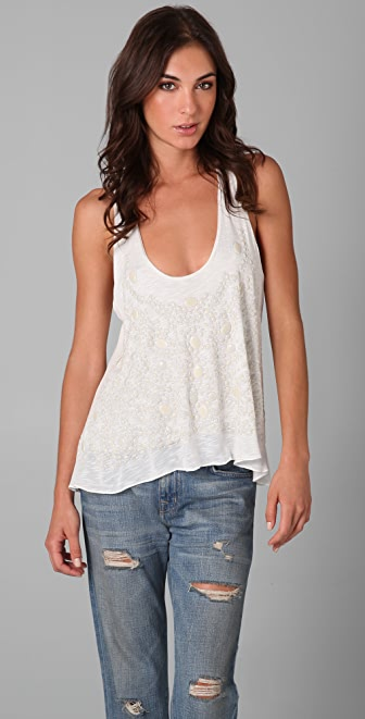 Tbags Los Angeles Embellished Tank