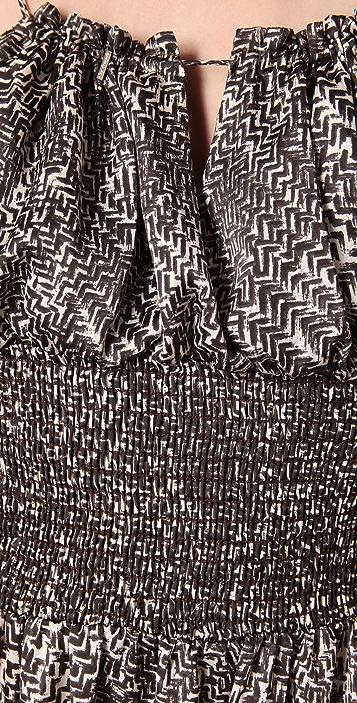 MISA Print Maxi Dress