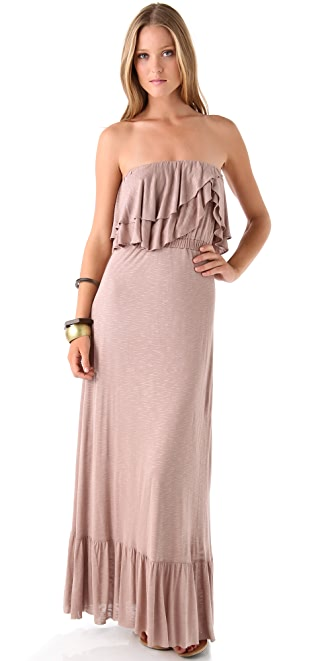 MISA Ruffle Strapless Maxi Dress | SHOPBOP