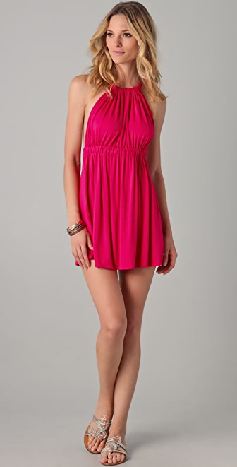 MISA Strappy Mini Dress