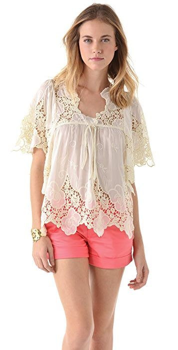 MISA Lace Top