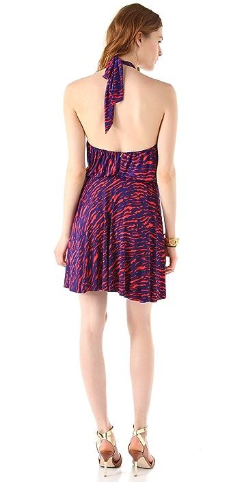 MISA Print Halter Dress