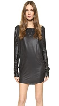 Tbags Los Angeles Faux Leather Dress