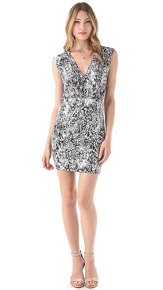 MISA V Neck Dress