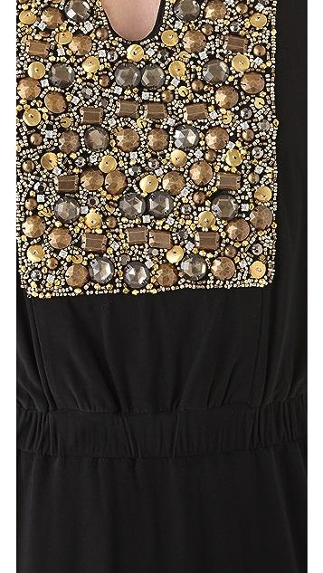 MISA Maxi Dress with Beading