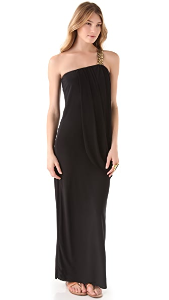 MISA One Shoulder Maxi Dress