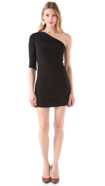 MISA One Shoulder Body Con Dress