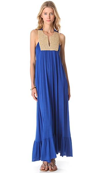 Tbags Los Angeles Maxi Dress with Crochet