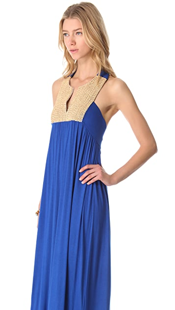 MISA Maxi Dress with Crochet