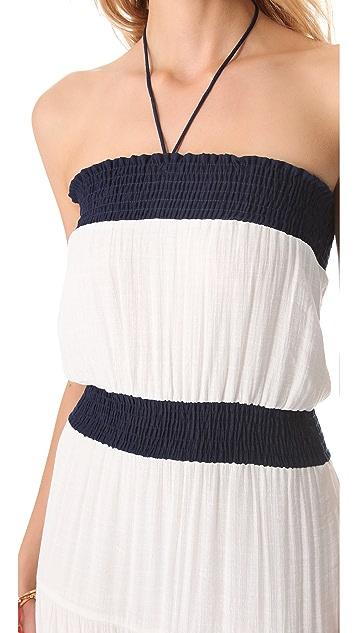 MISA Strapless Maxi Dress