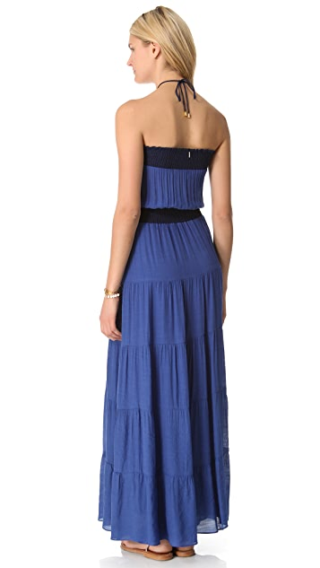 MISA Strapless Maxi Dress