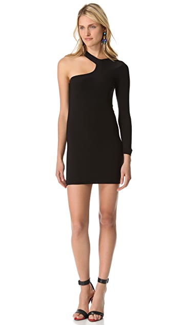 MISA Cutout Shoulder Dress